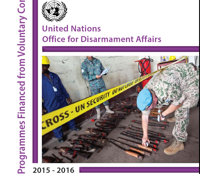 "UNODA issues annual report on ""Programmes Financed From Voluntary Contributions 2015-2016"""