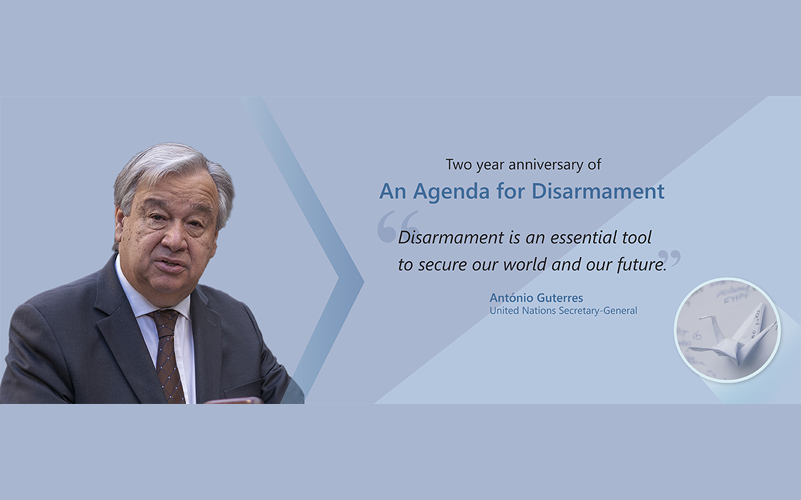 Two year anniversary of An Agenda for Disarmament