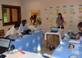 Participants of the workshop to develop the new weapons and ammunition management course